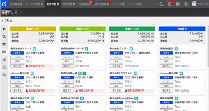 ネクストSFA管理画面のイメージ